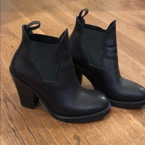 Acne black booties ** WORN ONCE